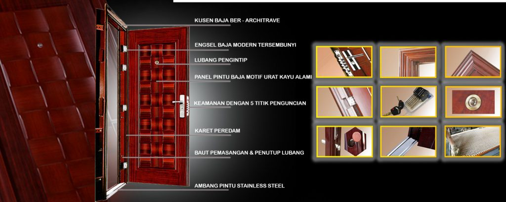 pintu rumah minimalis - Model Pintu Besi Minimalis Terbaru